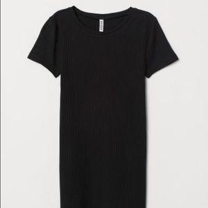 H&M Ribbed T-Shirt Dress